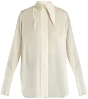 Ellery Joplin point-collar silk-blend jersey shirt