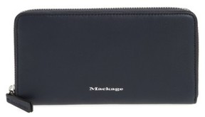 Women's Mackage Duke Zip Around Leather Wallet - Blue