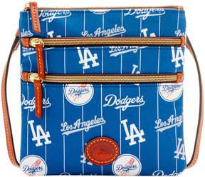 Dooney & Bourke MLB Dodgers Triple Zip Crossbody