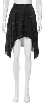 Anna Sui Embellished Wrap Skirt