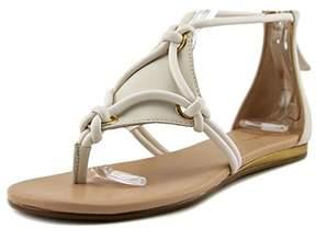 BCBGMAXAZRIA Bcbgeneration Womens Sara Leather Split Toe Casual Strappy Sandals.