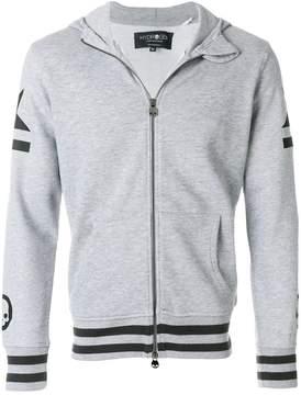 Hydrogen print zipped hoodie