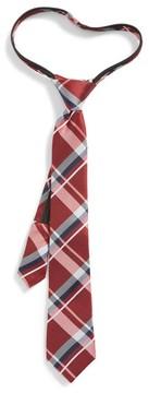 Nordstrom Boy's Plaid Silk Zip Tie
