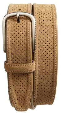 Johnston & Murphy Men's Perforated Suede Belt