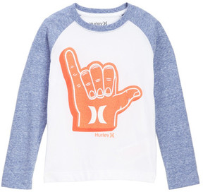 Hurley Long Sleeve Hang Ten Tee (Little Boys)