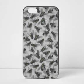 River Island Womens Grey Design Forum fly print iPhone 6 case