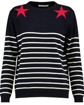 Chinti and Parker Striped Intarsia Wool And Cashmere-Blend Sweater