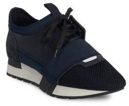 Balenciaga Race Mixed Media Sneakers