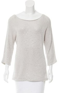 Amina Rubinacci Embellished Long Sleeve Sweater