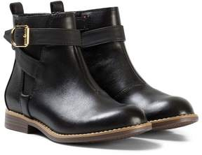 Tommy Hilfiger Black Aubrey Leather Ankle Boots