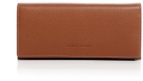Longchamp Le Foulonne Leather Wallet - COGNAC - STYLE