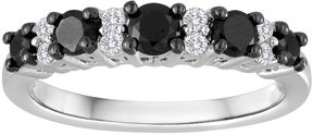 Black Diamond MODERN BRIDE 3/4 CT. T.W. White and Color-Enhanced Wedding Band