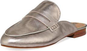 Tahari Flora Metallic Leather Penny Loafer Mule