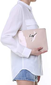 Giuseppe Zanotti Margery Logo Patent-leather Clutch