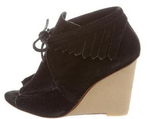 Derek Lam 10 Crosby Suede Wedge Booties