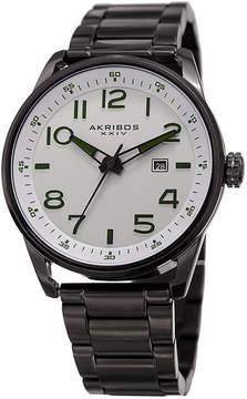 Akribos XXIV Mens Black Strap Watch-A-956ss