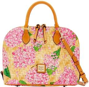 Dooney & Bourke Hydrangea Basketweave Zip Zip Satchel - PINK - STYLE
