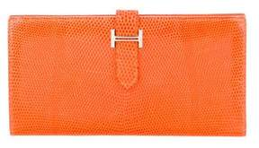 Hermes Lizard Bearn Wallet - ORANGE - STYLE