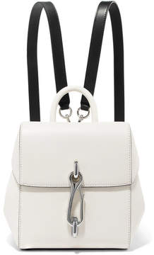 Alexander Wang Hook Mini Smooth And Textured-leather Backpack - White