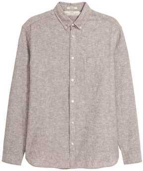 H&M Linen-blend Shirt Regular fit