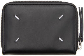 Maison Margiela Black Compact Zip Around Wallet