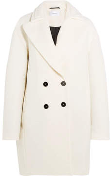Carven Wool-blend Bouclé Coat - Ivory