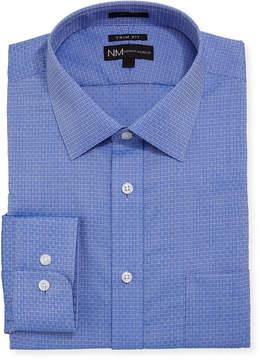 Neiman Marcus Trim Fit Dobby Dress Shirt with Pocket
