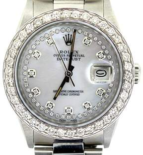 Rolex Datejust Diamond White Dial Stainless Steel 36mm Watch