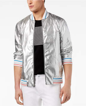 INC International Concepts I.n.c. Men's Silver Bomber Jacket, Created for Macy's
