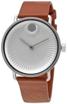 Movado Edge Silver Aluminum Dial Men's Watch 3680038
