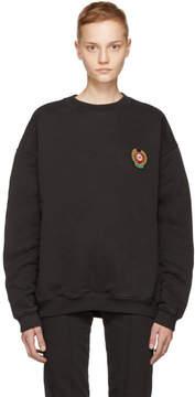 Yeezy Black Crest Logo Crewneck Sweatshirt