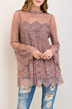 Entro Scalloped Lace Top