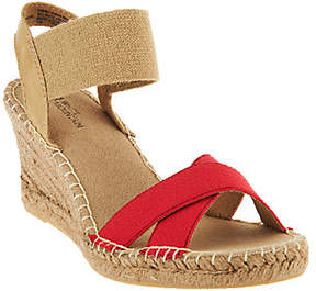 White Mountain As Is Espadrille Wedges w/ Strap - Laugh Line