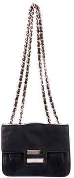 Zac Posen Z Spoke by Leather Chain-Link Flap Shoulder Bag