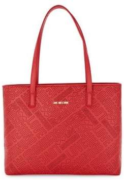 Love Moschino Logo Embossed Tote Bag