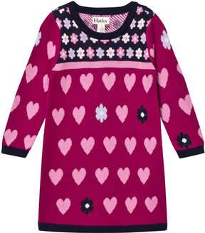 Hatley Purple Knit Heart Dress