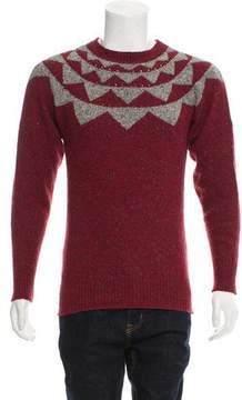 Michael Bastian Patterned Wool Sweater
