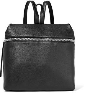 KARA - Large Textured-leather Backpack - Black