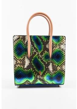 Christian Louboutin Pre-owned Multicolor Snakeskin Small Top Handle paloma Tote Bag.