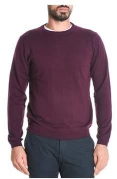 Sun 68 Men's Burgundy Cotton Sweater.