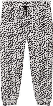 Ikks Black and White Spot Track Pants