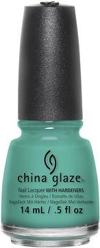 China Glaze Turned Up Turquoise Nail Polish - .5 oz.