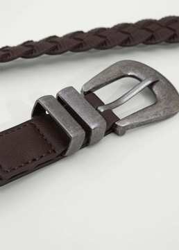 Mango Outlet Braided belt