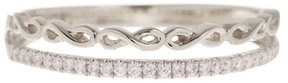 Bony Levy 18K White Gold Diamond Infinity Stackable Ring - 0.09 ctw