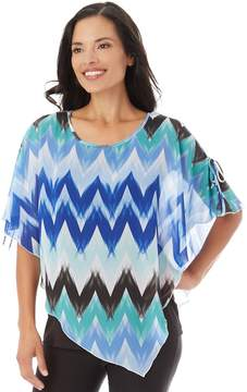 Apt. 9 Women's Textured Chiffon Popover Top