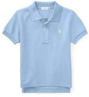 Ralph Lauren | Cotton Mesh Polo Shirt | 18-24 months | Austin blue