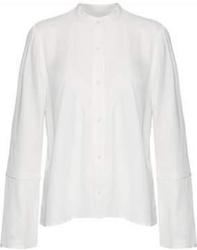 Derek Lam 10 Crosby Pintucked Twill Shirt