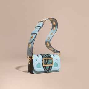 Burberry The Patchwork in Snakeskin and Suede - BLUE - STYLE