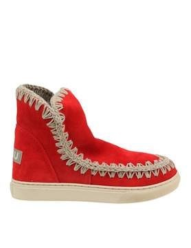 Mou Summer Eskimo Sneakers In Red Suede