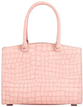 Small Croc Embossed Leather Bag